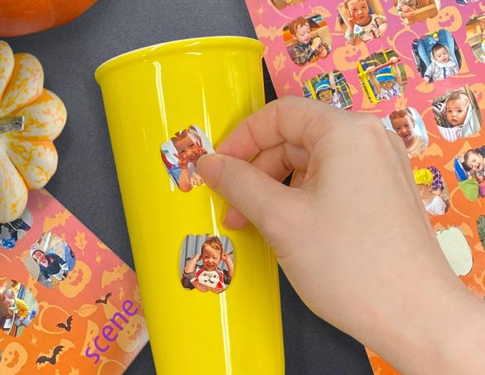 かぼちゃ形フォトシールの画像